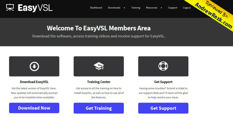 easy vsl members area