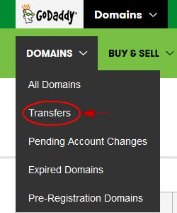 Godaddy Pending Transfers