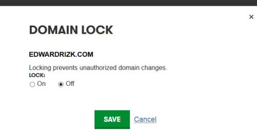 Unlock a Domain at Godaddy