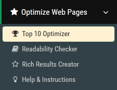 SEOprofiler - Optimize your pages for top 10 rankings on google